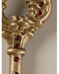 Dolce & Gabbana - Metallic Key Earrings - Lyst