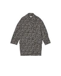 Carven - Blue Pattern Overcoat - Lyst