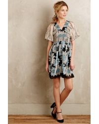 Anna Sui | Black Miri Silk Kimono Dress | Lyst