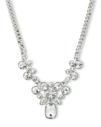Givenchy | Metallic Silvertone And Crystal Cluster Pendant Necklace | Lyst