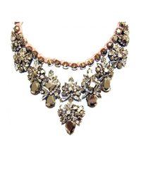 Shourouk   Metallic Princess Theresa Pearl And Swarovski Collar Silver   Lyst