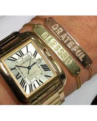 Anne Sisteron - Pink 14kt Rose Gold Diamond Blessed Bracelet - Lyst
