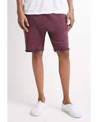 Forever 21 | Purple Frayed Drawstring Sweatshorts You've Been Added To The Waitlist for Men | Lyst
