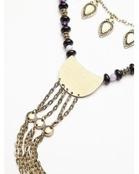Free People - Purple Womens Chain Ladder Necklace - Lyst