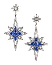 CZ by Kenneth Jay Lane - Blue Earrings - Lyst