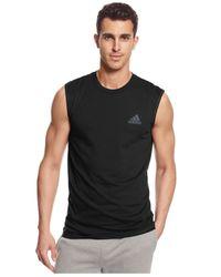 Adidas | Black Men's Go-to Performance Sleeveless T-shirt for Men | Lyst
