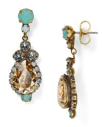 Sorrelli | Green River Teardrop Earrings | Lyst