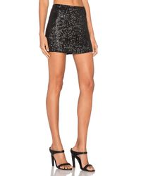 MLV - Black Justin Sequin Mini Skirt - Lyst