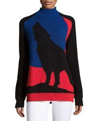 Risto - Blue Moon Wolf Sweater - Lyst