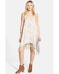 Billabong - White 'Daydream Haze' Fringe Handkerchief Hem Dress - Lyst