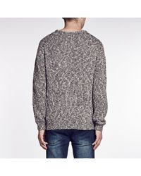 Cheap Monday - Gray Crew Knit Sweater Melange for Men - Lyst