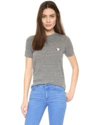 Rodarte | Gray Rohearte Embroidered T-shirt | Lyst