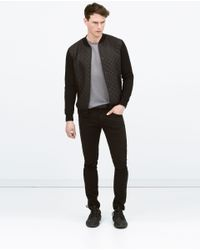 Zara | Black Combined Nylon Jacket for Men | Lyst