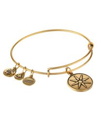 ALEX AND ANI | Metallic Star Of Venus Charm Bangle | Lyst