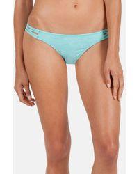 Volcom - Blue 'smoke Signals' Strappy Bikini Bottoms - Lyst