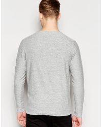Jack & Jones - Gray Premium Knitted Crew Neck Jumper for Men - Lyst