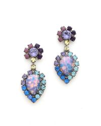 DANNIJO - Purple Cruz Earrings - Lyst