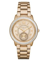 MICHAEL Michael Kors | Metallic 'madelyn' Bracelet Watch | Lyst