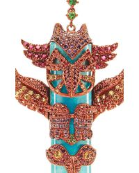 Lydia Courteille - Multicolor One Of A Kind Totem Pole Earrings - Lyst