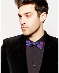 ASOS - Black Bow Tie In Floral Print for Men - Lyst