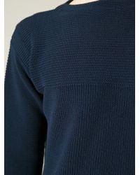 KENZO | Blue Slash Neck Sweater for Men | Lyst