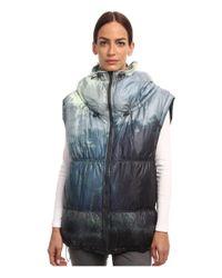 Adidas By Stella McCartney | Blue Weekender Printed Gilet | Lyst