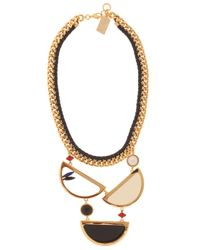 Lizzie Fortunato | Multicolor Miro Necklace with Gold Pleated Brass | Lyst