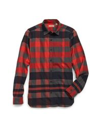 Burberry Brit | Black 'caden' Trim Fit Check Print Flannel Sport Shirt for Men | Lyst