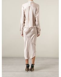 Haider Ackermann - Pink Asymmetrical Shirt Dress - Lyst