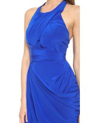 Zimmermann | Blue Back Drape Dress | Lyst
