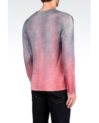 Emporio Armani | Pink Jumper In Virgin Wool for Men | Lyst