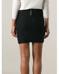IRO - Black Megan Fitted Patterned Skirt - Lyst
