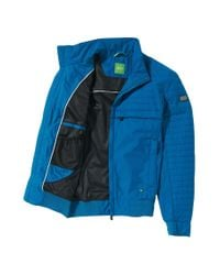 BOSS Green - Blue Jacket In Smooth Fabric Blend: 'jadon 16' for Men - Lyst
