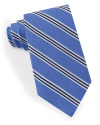 Lord & Taylor - Blue Racer Stripe Tie for Men - Lyst