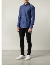Band of Outsiders - Blue Striped Button-down Shirt for Men - Lyst