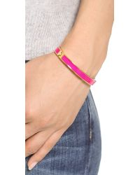 kate spade new york - Tickled Pink Hinged Bangle Bracelet - Bougainvillea Pink - Lyst