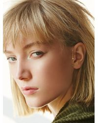 Free People - Metallic Hanging Diamonds Ear Cuff - Lyst