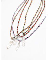 Free People - Metallic Rio Thread Necklace - Lyst