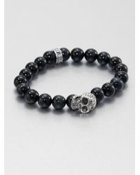 King Baby Studio | Metallic Tigers Eye Beaded Bracelet | Lyst