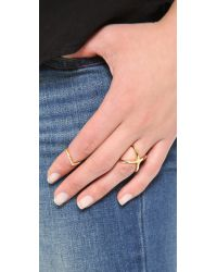 Vita Fede | Metallic Mini Crystal V Ring | Lyst