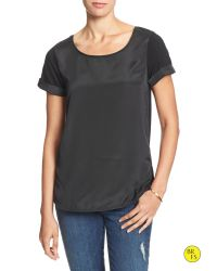 Banana Republic | Black Factory Rolled-sleeve Tee | Lyst