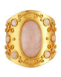 Stephanie Kantis | Pink Large Cuff Bracelet W/rose Quartz | Lyst