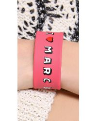 Marc By Marc Jacobs | Pink Marc Love Snap Bracelet | Lyst