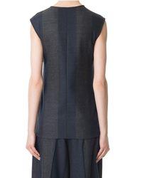 Tibi - Blue Horizon Stripe Wool Tie Top - Lyst
