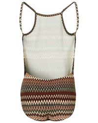 TOPSHOP - Multicolor Zig Zag Print Backless Body By Jaded London - Lyst