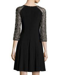 Chetta B | Black Bead Accented Shift Dress | Lyst