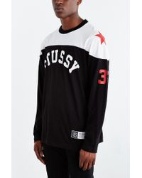Stussy - Black Star Hockey Jersey Tee for Men - Lyst