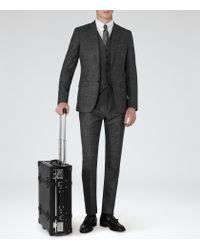 Reiss | Black Parker Three Piece Suit for Men | Lyst
