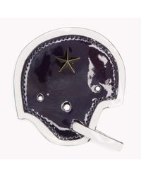 Tommy Hilfiger - Blue Leather Helmet Badge - Lyst