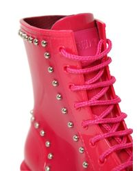 RED Valentino | Pink 30mm Studded Boots | Lyst